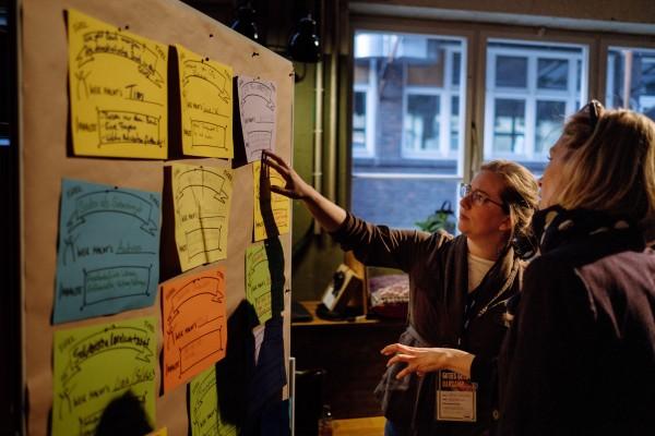 Themenauswahl beim GUTES GELD Barcamp.